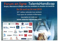 affiche forum talents handicap