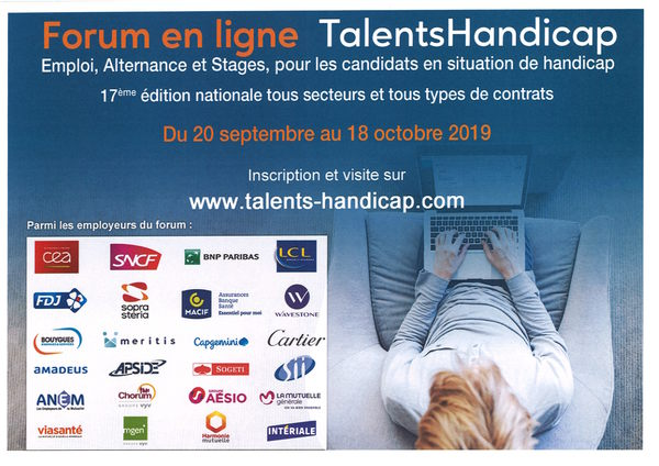 forum en ligne talents handicap
